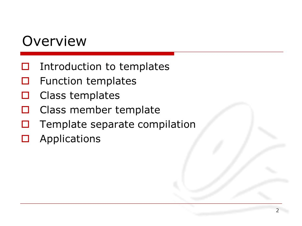 Department of computer science and engineering hkust 1 hkust 2 2 overview introduction to templates function templates class templates class member template template separate compilation applications pronofoot35fo Image collections