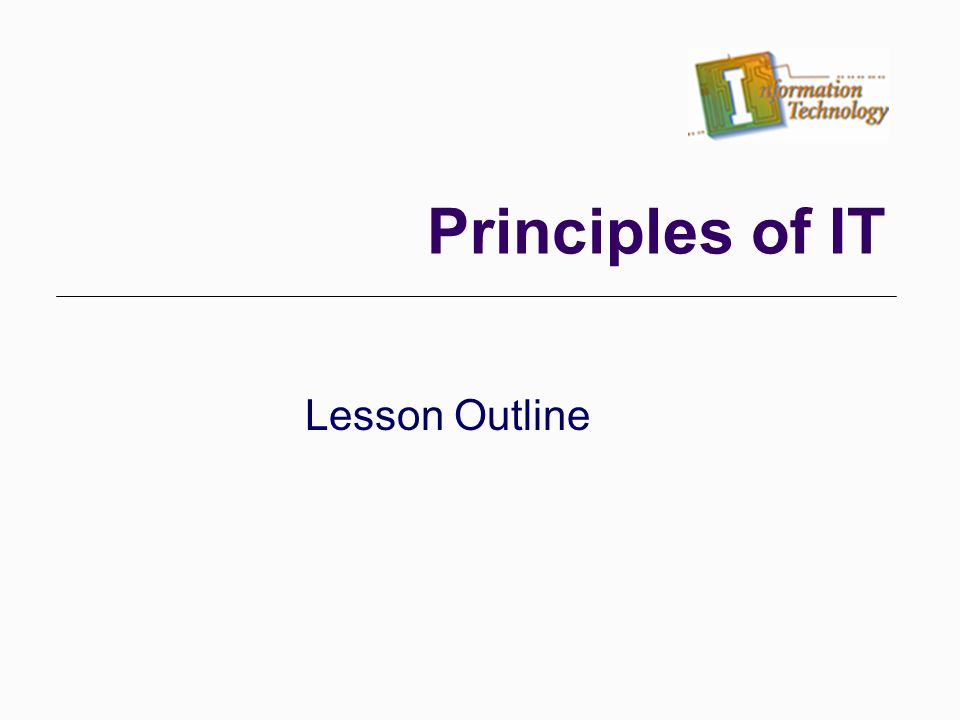 lesson outline template