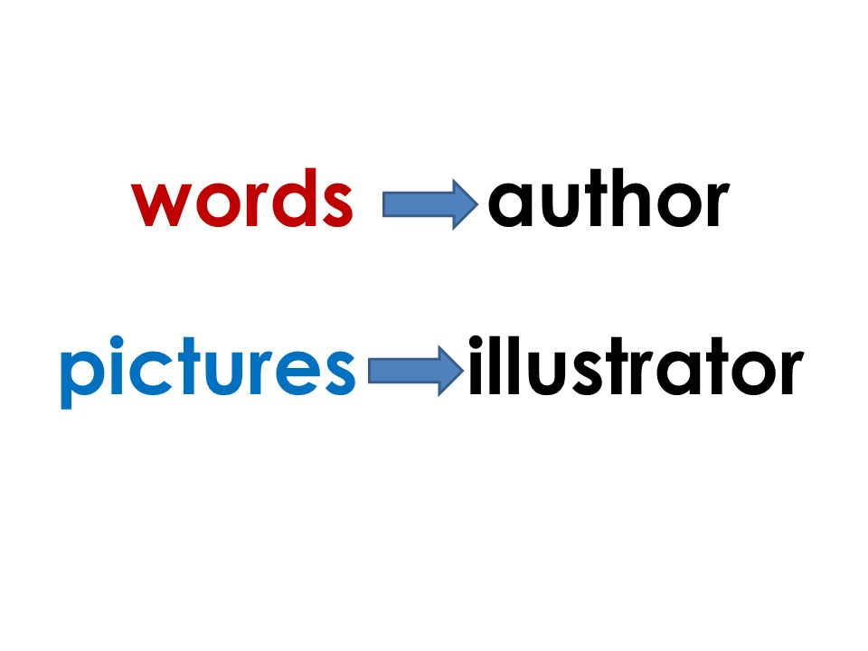words author pictures illustrator