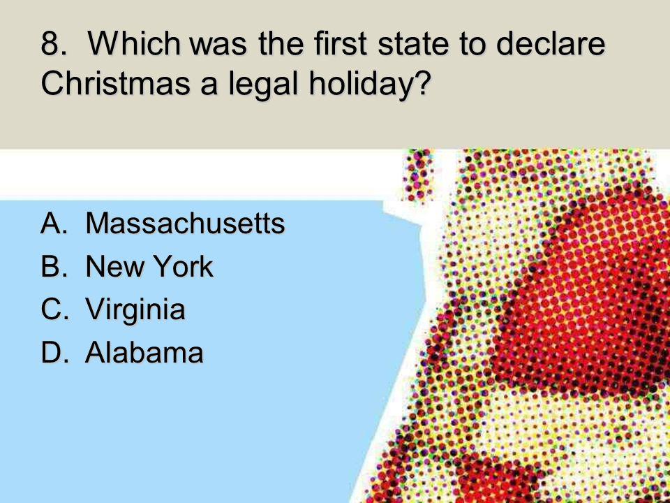 1. Who created the American image of Santa Claus? A.Thomas Nast B ...