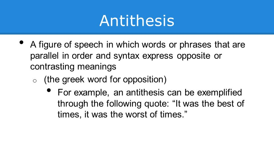 Define Antithesis Writing Coursework Service
