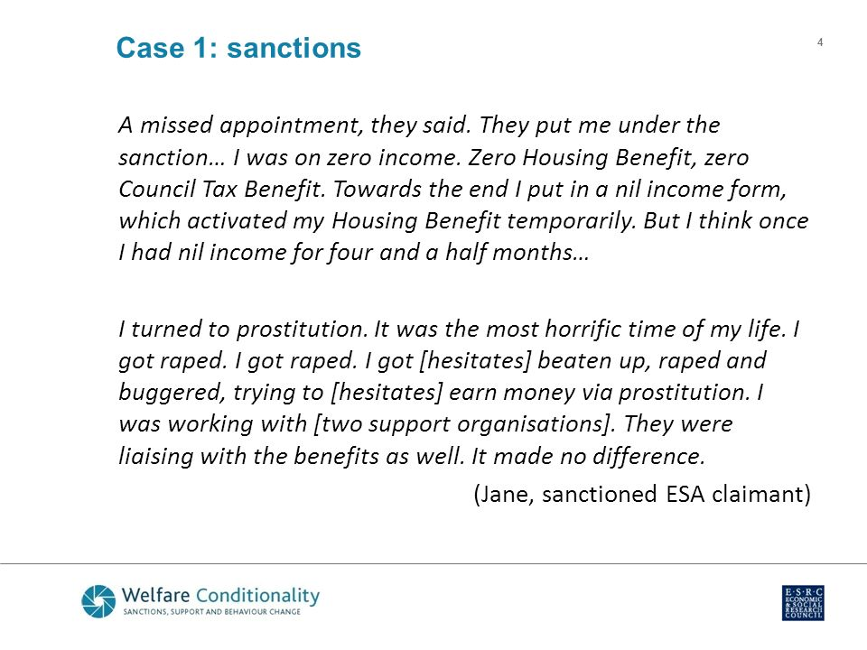 Welfare Benefits Does Conditionality Work Presentation By