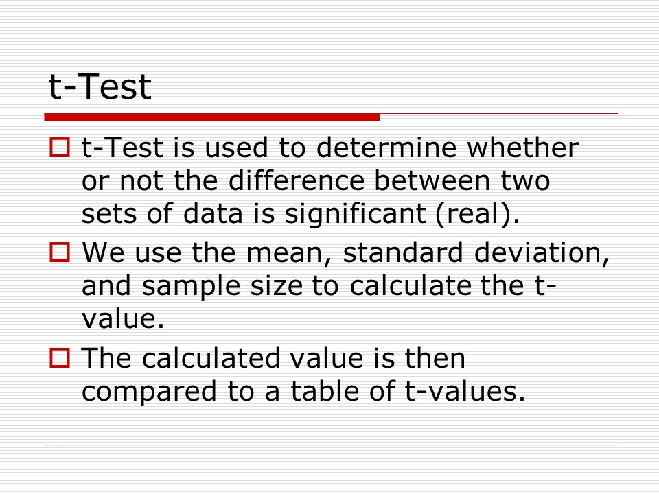 Statistical analysis mean standard deviation standard deviation t test t test is used to determine whether or not the difference ccuart Choice Image
