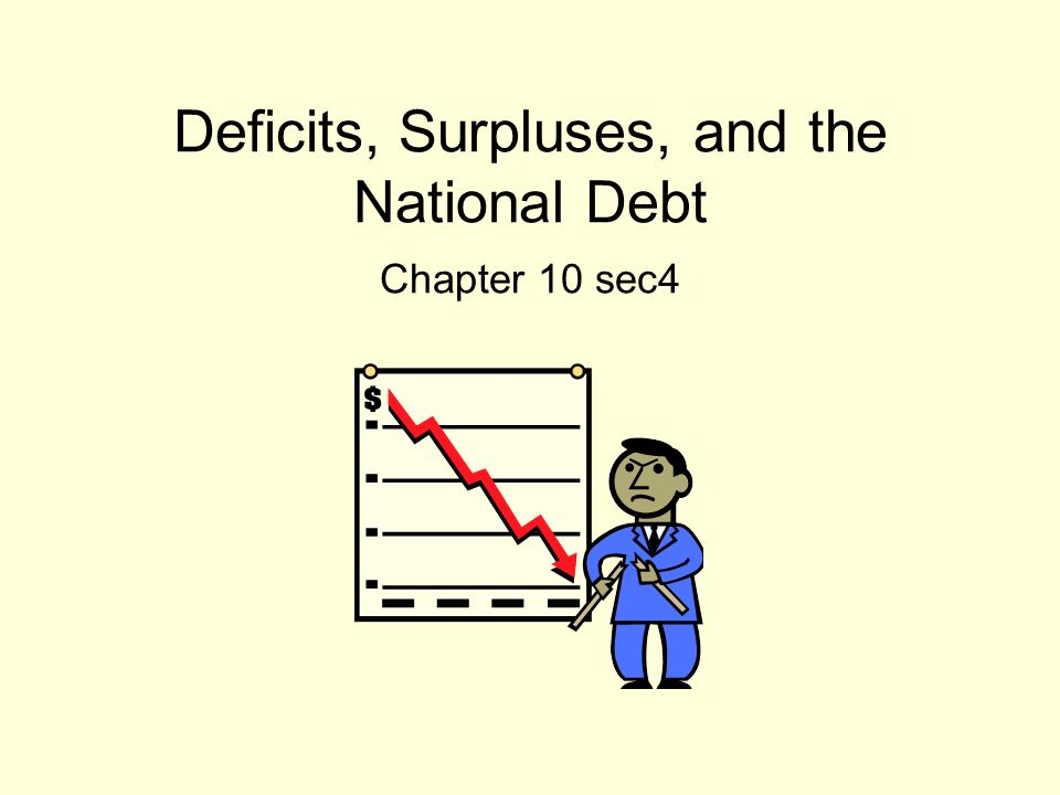 Deficits, Surpluses, and the National Debt Chapter 10 sec4