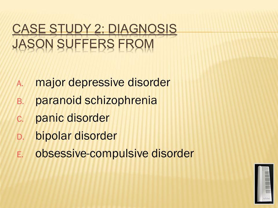 case study of schizophrenia paranoid