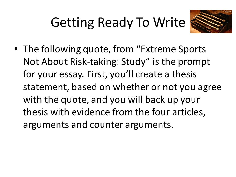 Risk taking essay