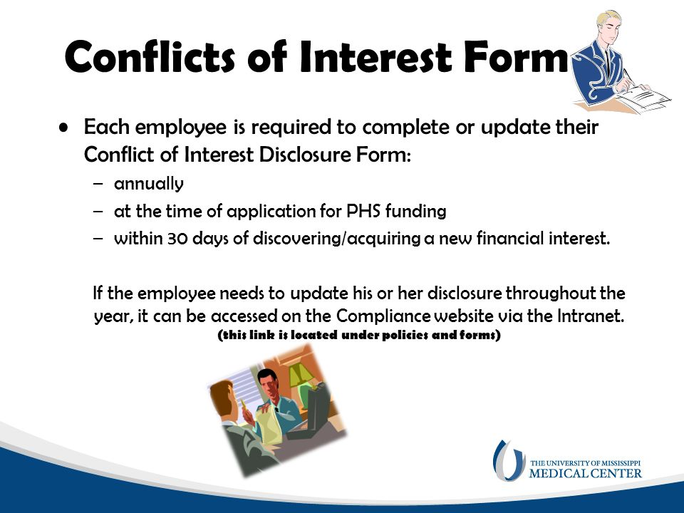 Conflicts of interest presented by the ummc office of integrity 7 conflicts of interest form pronofoot35fo Image collections