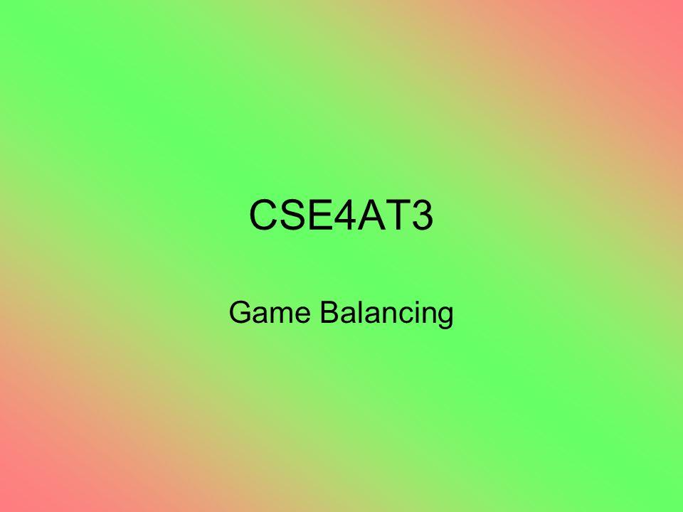 CSE4AT3 Game Balancing