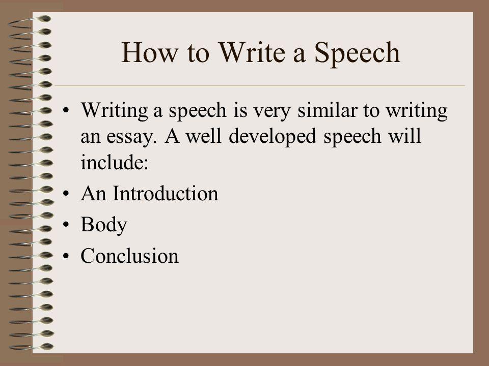 speech writing essay