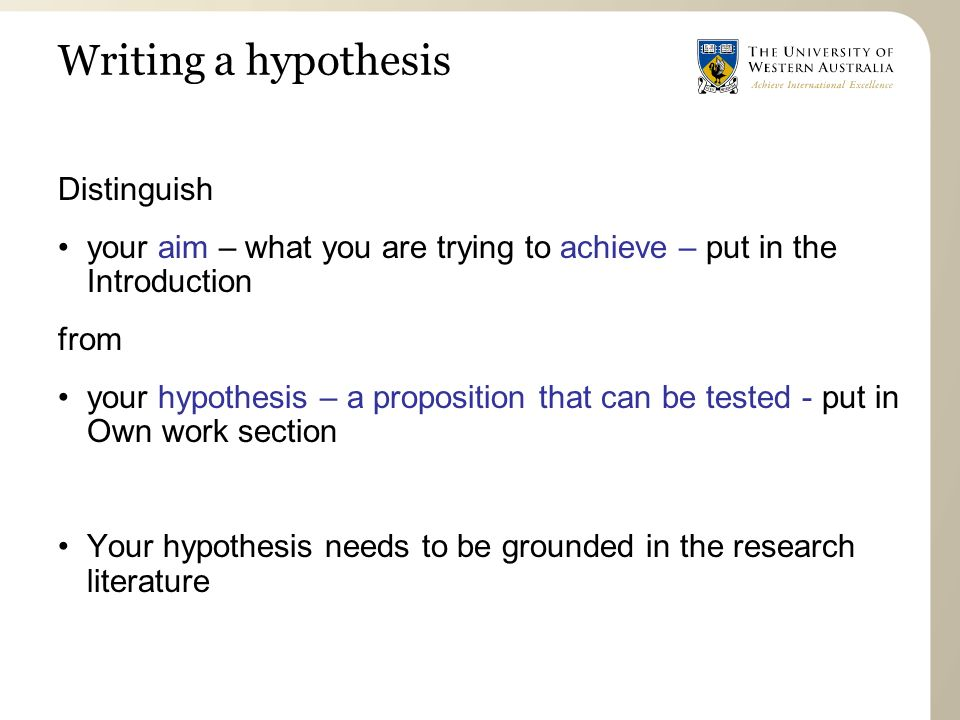 write dissertation hypothesis How to write a good (no, great) phd dissertation it's about defining a hypothesis and providing arguments to if given a chance to re-write the dissertation.