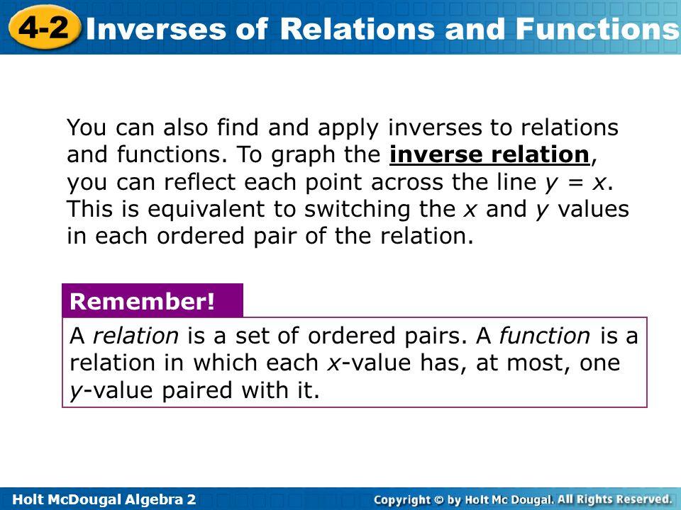 Printables Algebra 2 Inverse Functions Worksheet algebra 2 inverse relations and functions worksheet intrepidpath worksheets for kids teachers