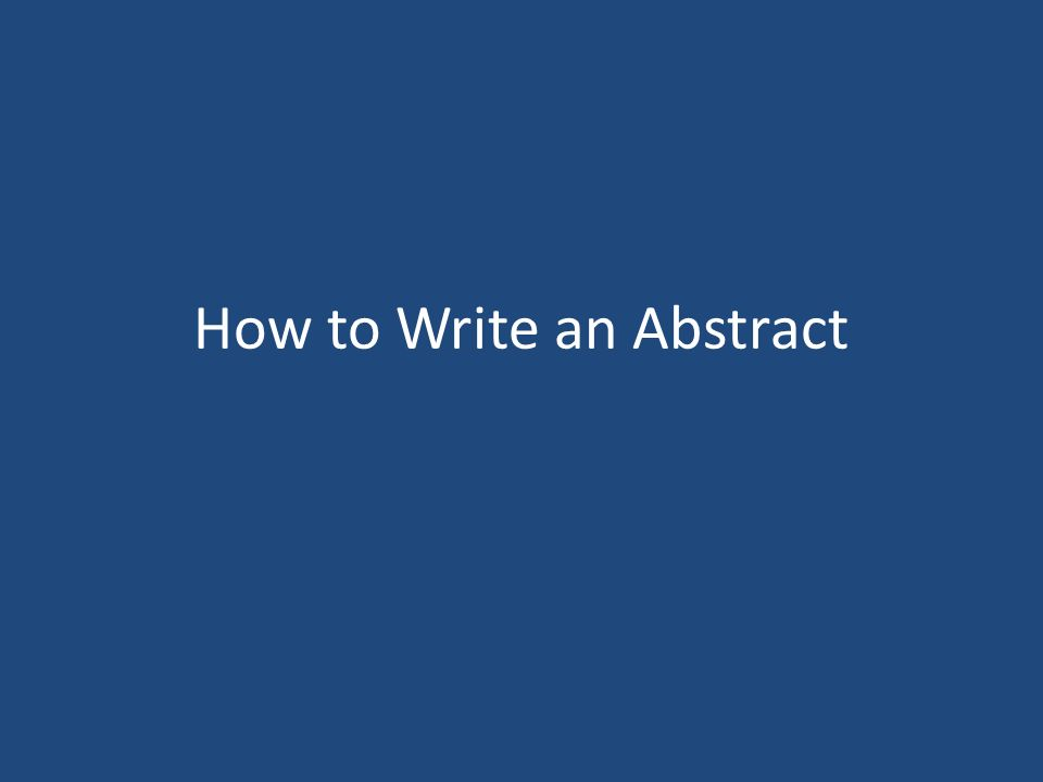 how to write an abstract for a project Learn how to write for science fair abstract projects this will be a great asset for you because in those limited words – approximately 250 words in all – you will be able to let your reader know what to expect in the upcoming pages.