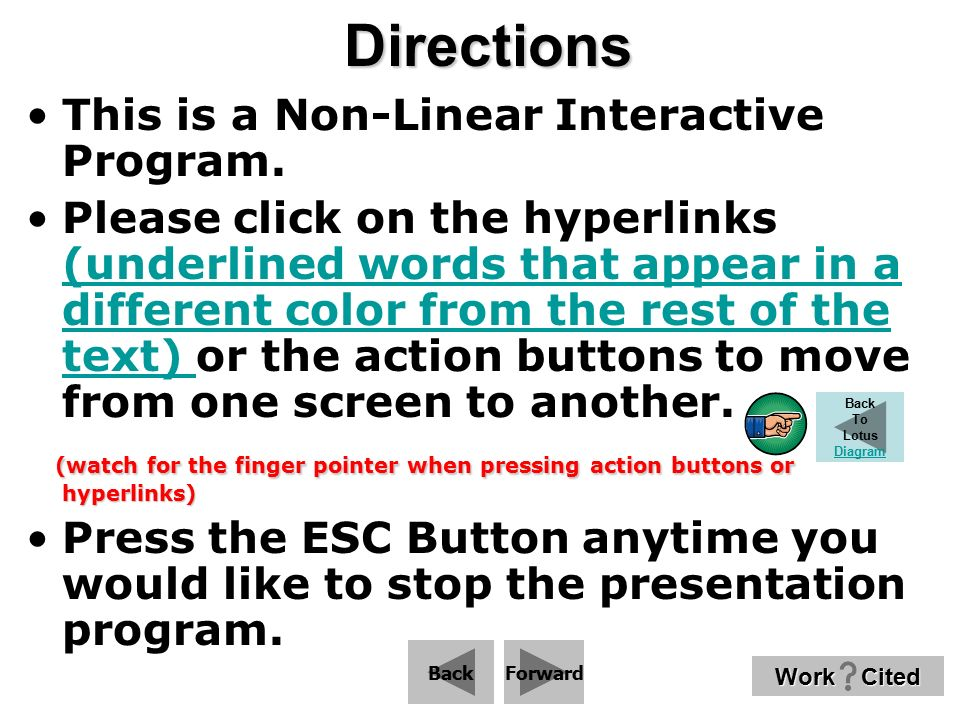 Directions This is a Non-Linear Interactive Program.