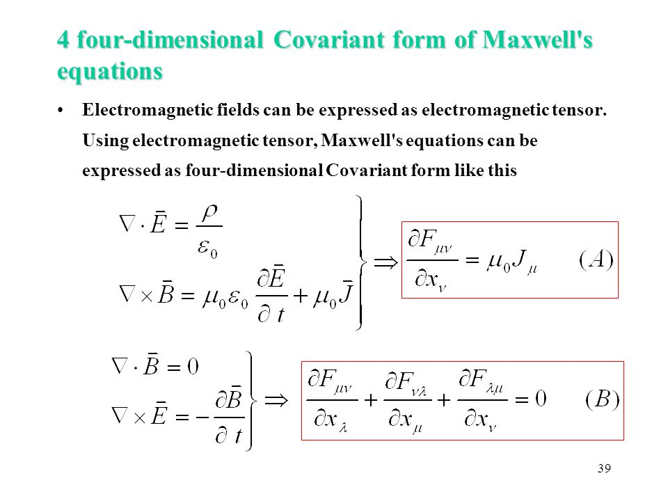 Maxwell Equations Tensor Form Ibovnathandedecker