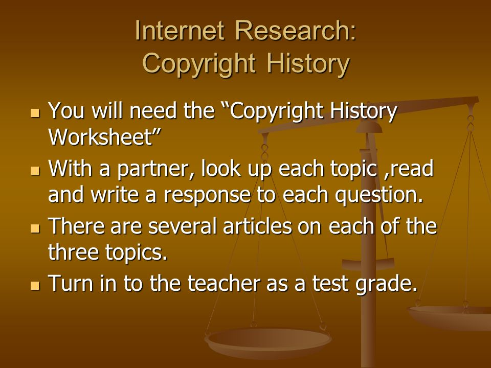 Research paper on internet copyrights