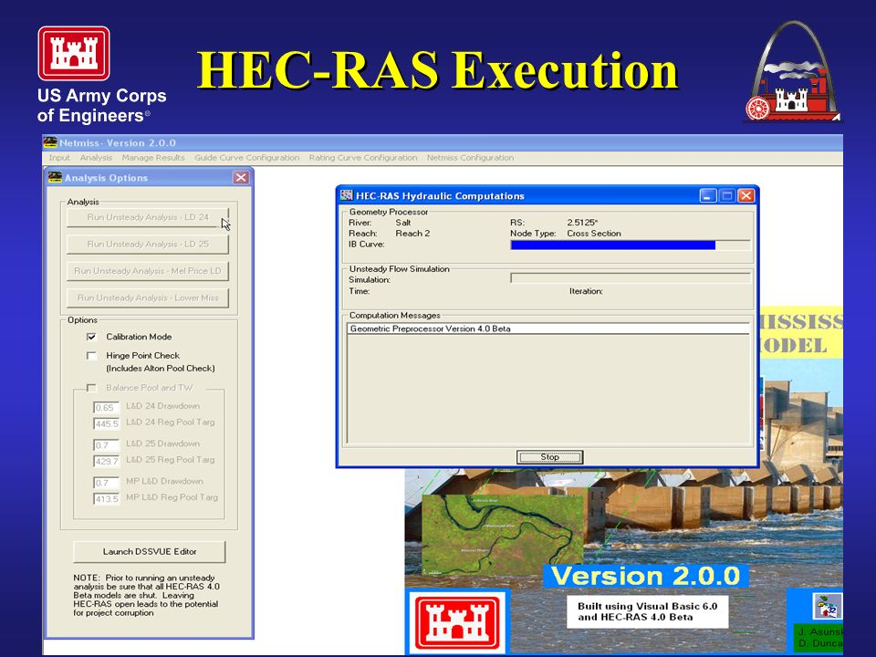 One Corps Serving the Armed Forces and the Nation HEC-RAS Execution
