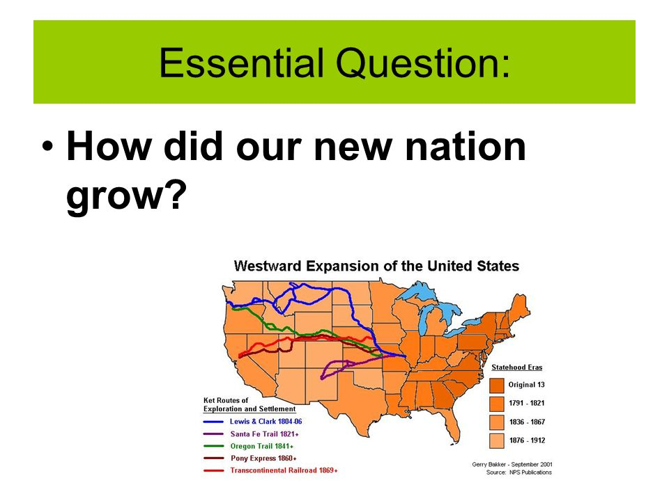 Essential Question: How did our new nation grow