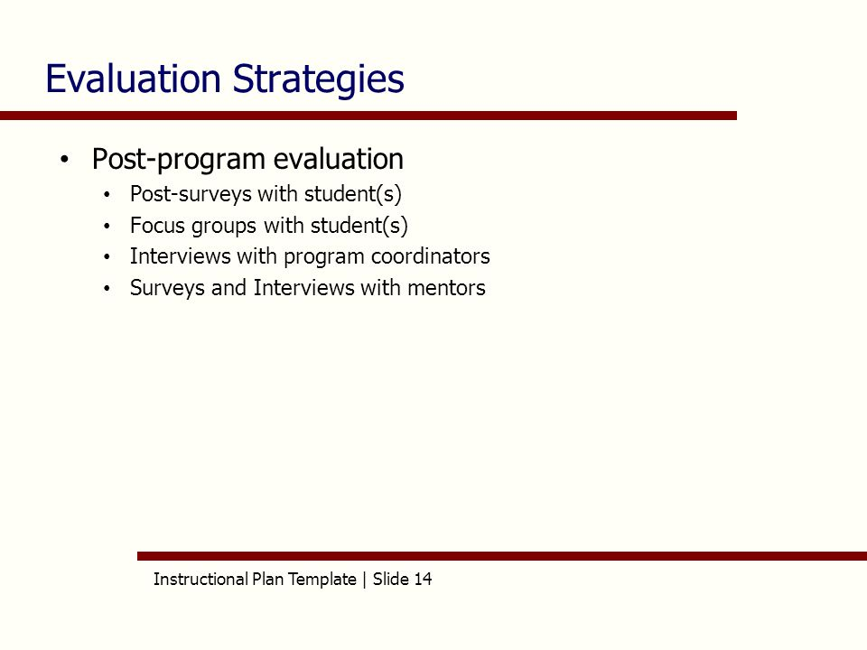 Instructional Plan Template | Slide 1 Aet/515 Instructional Plan