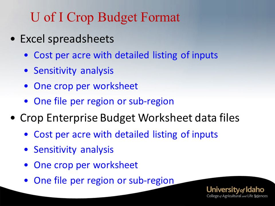 Potato economics potato markets marketing cost of production 44 44 u of i crop budget format pronofoot35fo Image collections