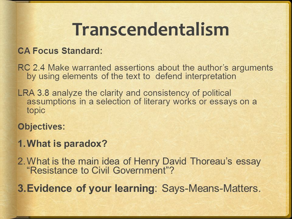 hippies and transcendentalism essay What is the significance of walden during the and transcendentalism were important elements in a hippies .