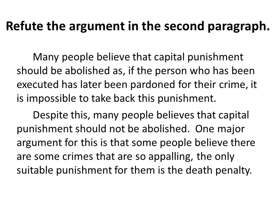 evaluation argument capital punishment Cecilia evaluate andrew sullivan's argument in his article watch it in the article, watch it, andrew sullivan argues that a society that accepts capital punishment as part of its justice system should be prepared to watch t.