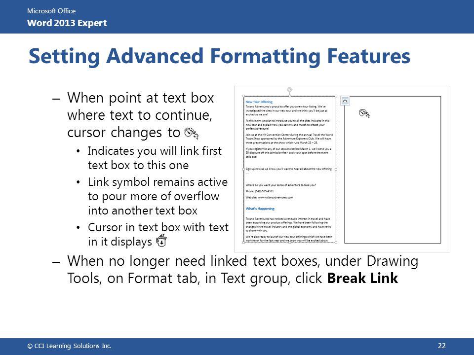 Microsoft Office Word 2013 Expert Microsoft Office Word 2013 ...