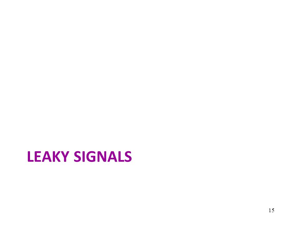 LEAKY SIGNALS 15