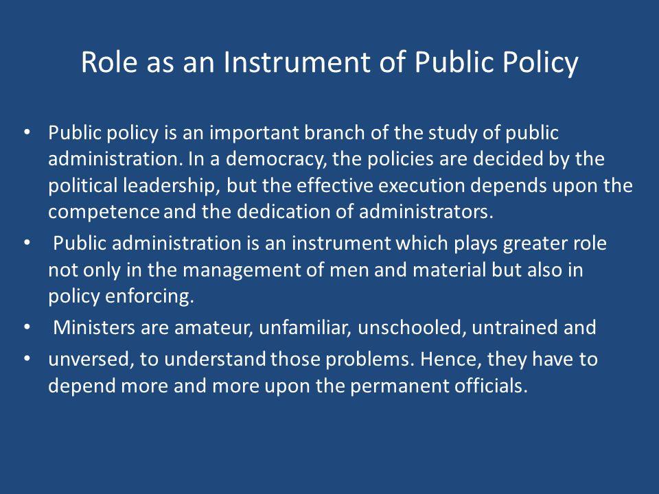 public policy public administration