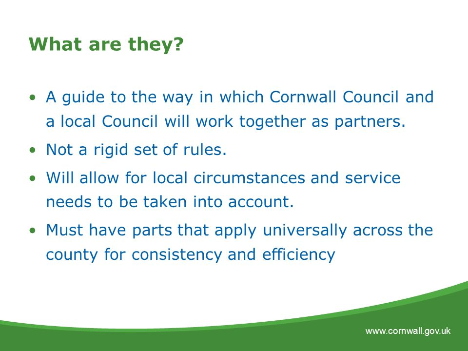 Local agreements with local councils a template for partnership 2 platinumwayz