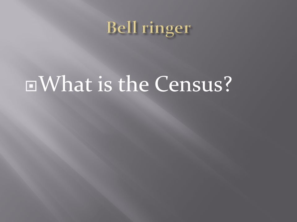  What is the Census
