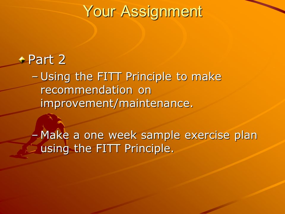 My Fitness Plan Web Quest Introduction Every 33 seconds in the – Fitt Principle Worksheet