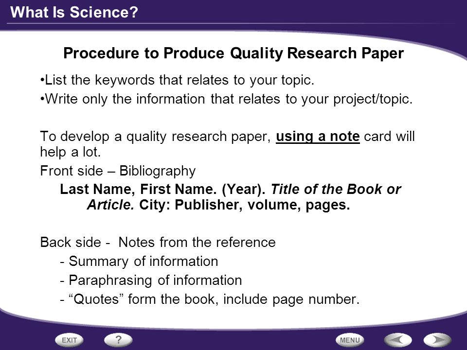 qualities of a good research paper What are the qualities of research paper writers needs some skills that one can achieve after writing a lot of papers any experienced writer has this advantage.