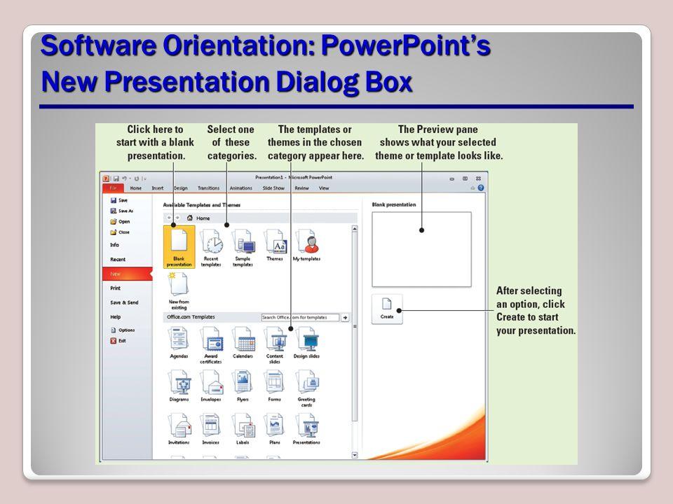 presentation basics lesson 2. software orientation: powerpoint's, Modern powerpoint