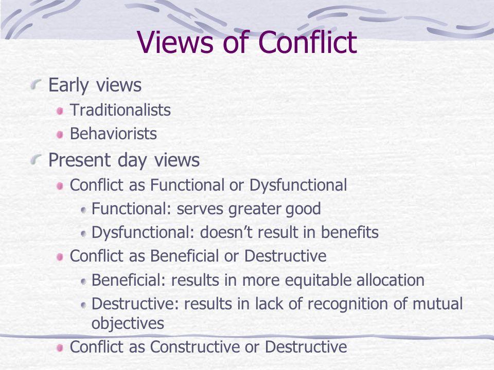 functional amd dsyfunctional conflict