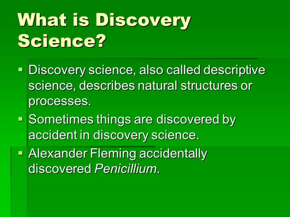 What is Discovery Science.