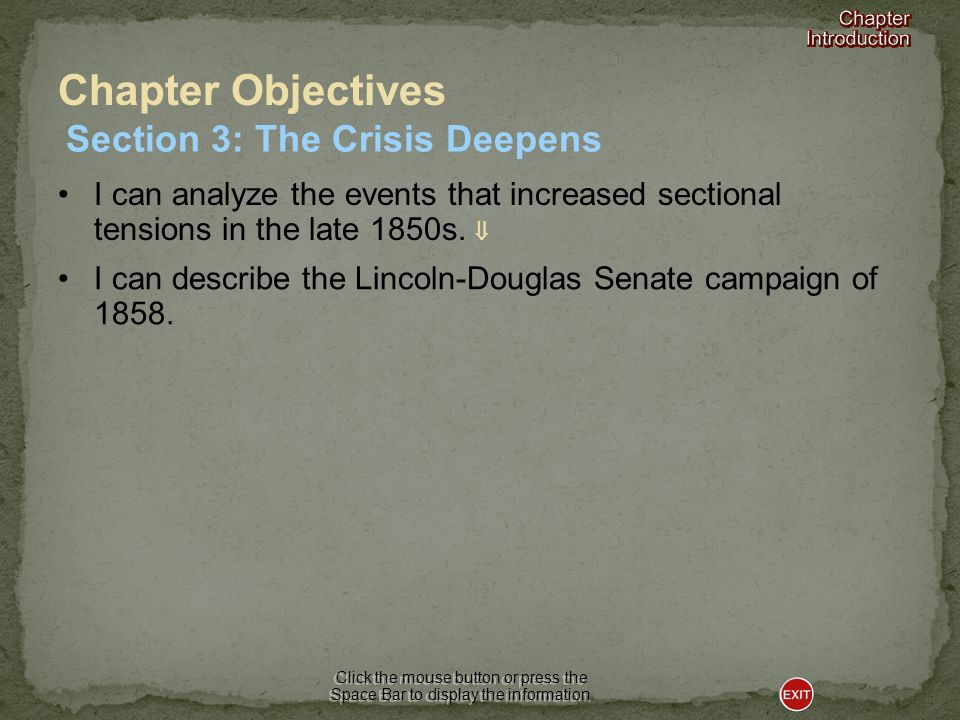 Section 3-The Crisis Deepens
