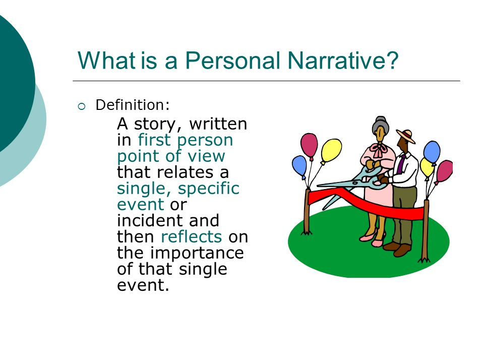 Writing A Personal Narrative Essay