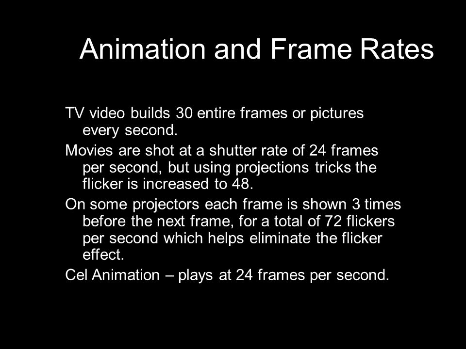 Luxury How Many Frames Per Second Are Movies Image Collection ...