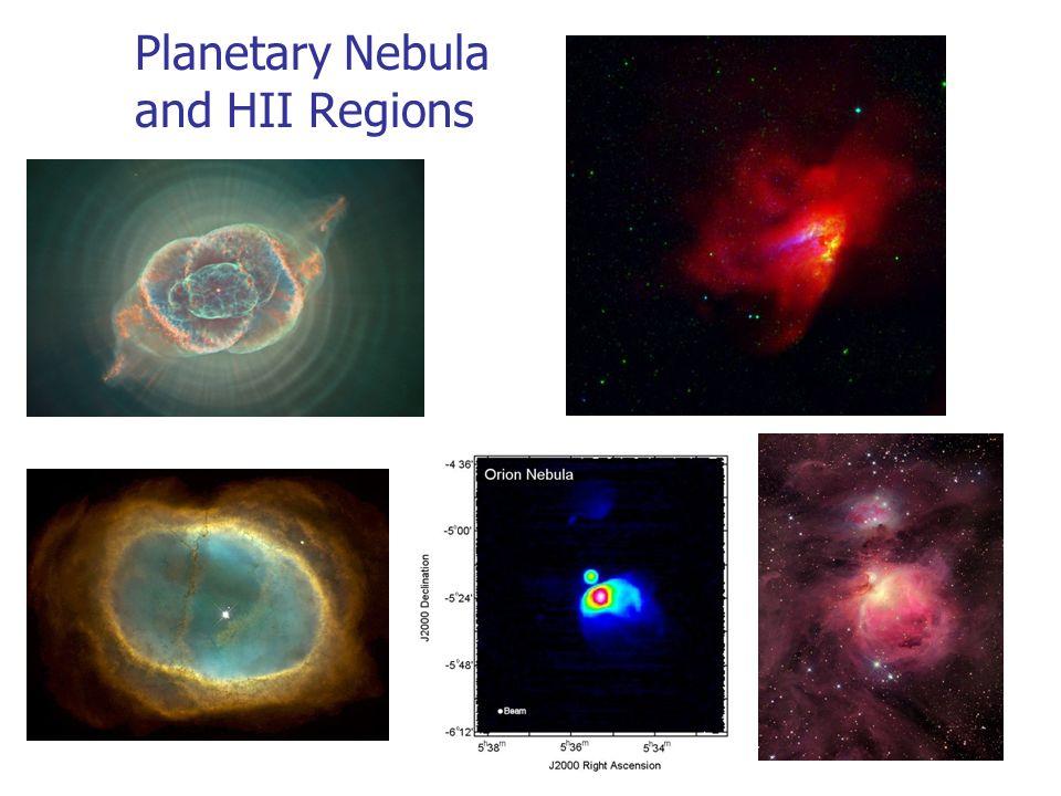 Planetary Nebula and HII Regions