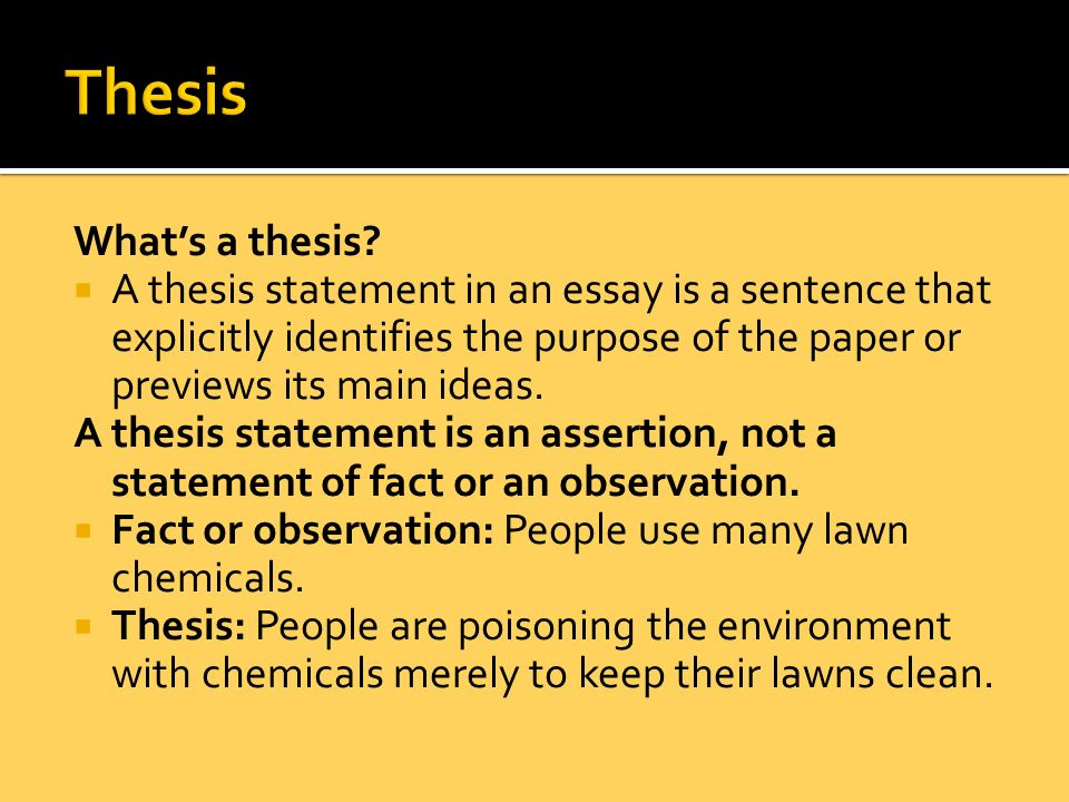 How Should A Thesis Statement Be Written