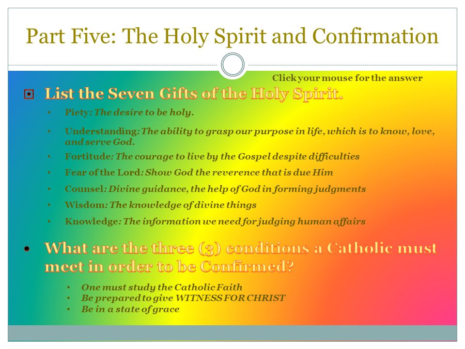 What Are The Seven Gifts Of The Holy Spirit Given In Confirmation What Are The Seven