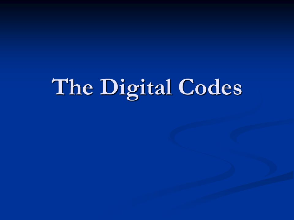 The Digital Codes