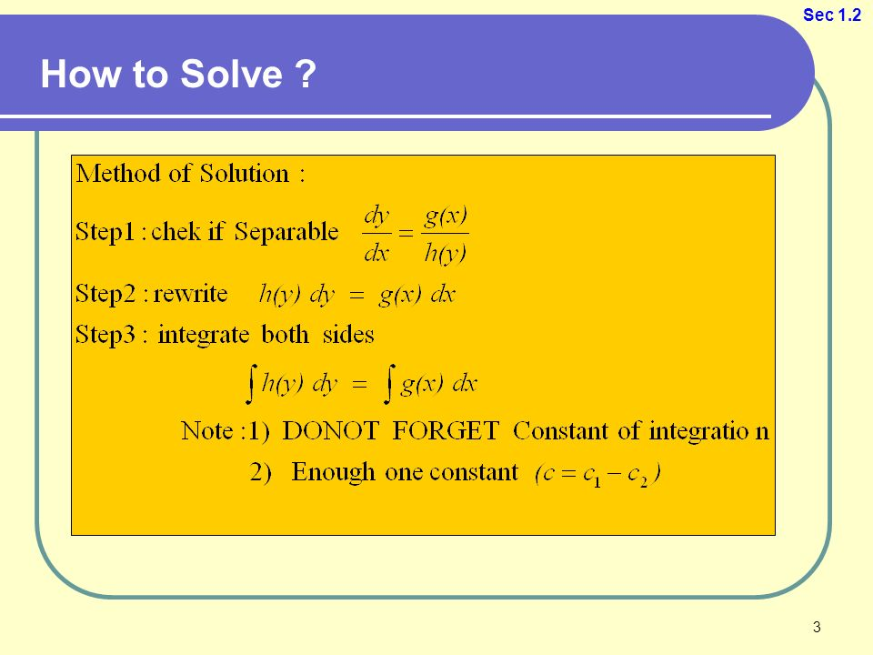Chapter 1: First-Order Differential Equations 1. Sec 1.4 ...