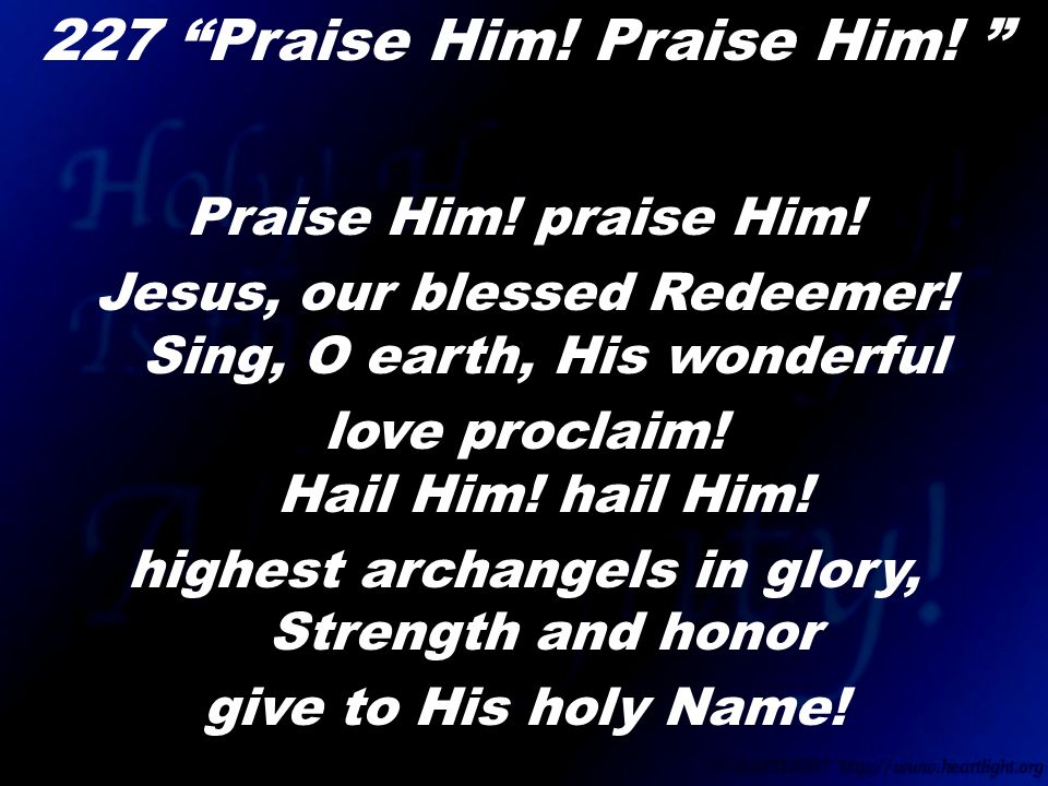 "Lyric blessed redeemer lyrics : Call to Worship ""There's Something About That Name"" Choir. - ppt ..."