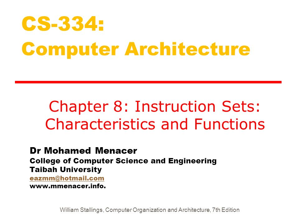 Dr Mohamed Menacer College of Computer Science and Engineering Taibah University