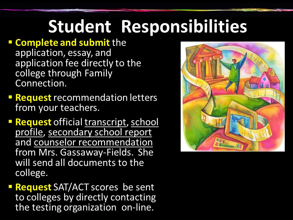 The college application process what you need to know ppt download 5 student responsibilities complete and submit thecheapjerseys Images