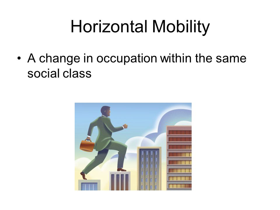 Horizontal Mobility A change in occupation within the same social class