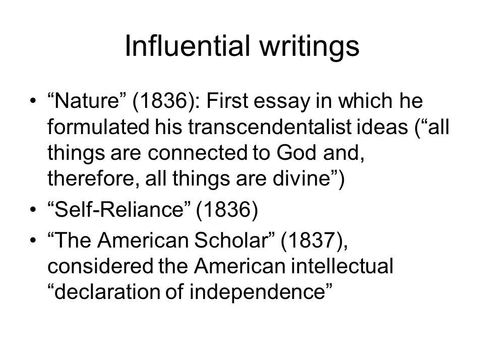 transcendentalism ppt 14 influential