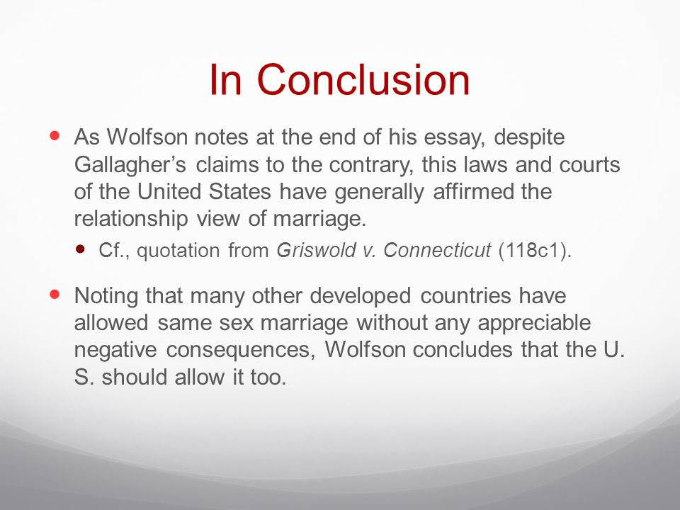 philosophy consequentialism and moral concerns about marriage  in conclusion as wolfson notes at the end of his essay despite gallagher s claims to