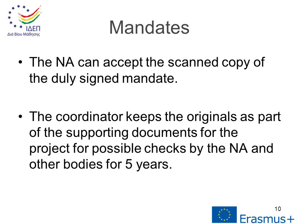 The NA can accept the scanned copy of the duly signed mandate.